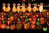 "Jack-o-Lanterns and Ghosts at ""The Steeple"", Delafield, Wisconsin"