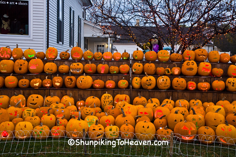 """Jack-o-Lanterns Carved by Children at """"The Steeple"""", Delafield, Wisconsin"""
