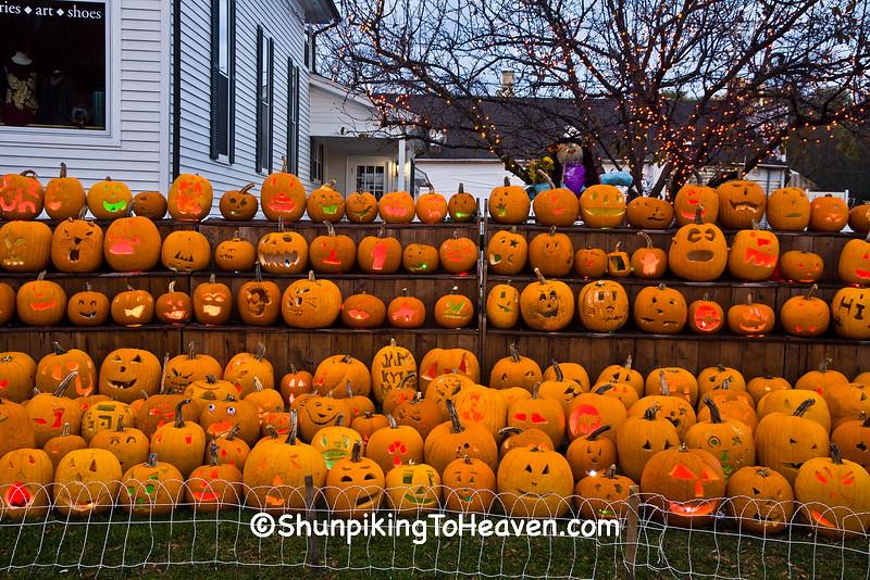 Jack-o-Lanterns Carved by Children, Delafield, Wisconsin