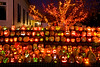 """Jack-o-Lanterns at """"The Steeple"""", Delafield, Wisconsin"""