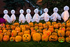 """Jack-o-Lanterns and Ghosts at """"The Steeple"""", Delafield, Wisconsin"""