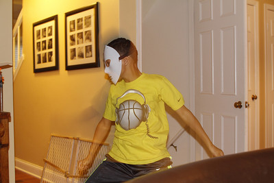 "Edward with his ""Freddie"" mask"