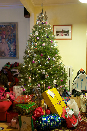 The tree surrounded once again with wonderful presents!