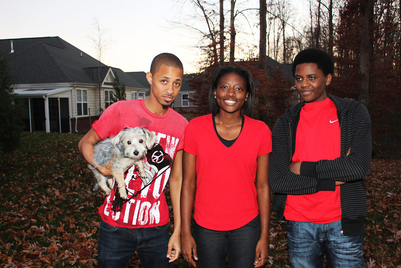 Siblings William, Urania and Ricky