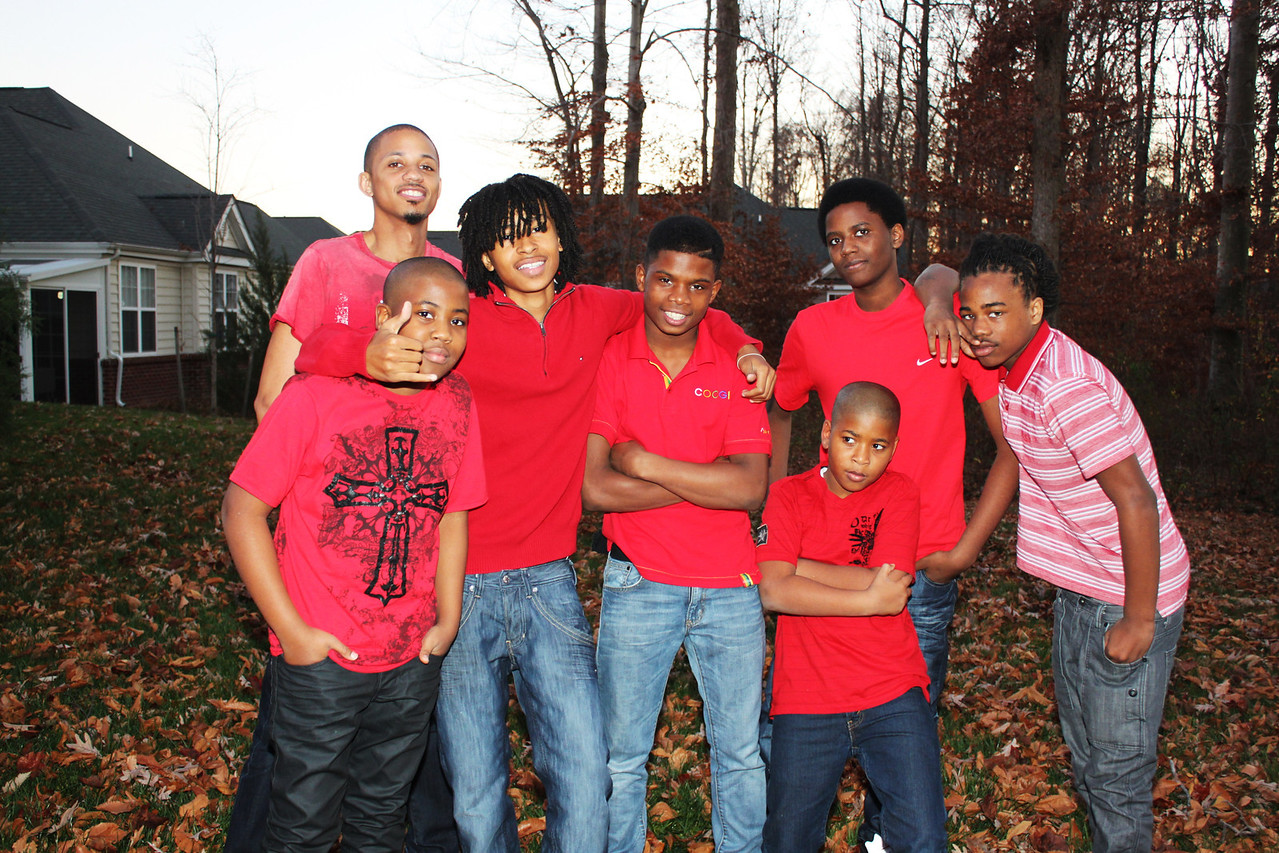 The Handsome young men in my family.