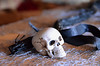 Skull with Black Ribbon