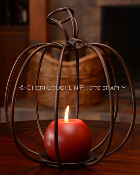 Wire Pumpkin Candle 4