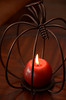Wire Pumpkin Candle 2