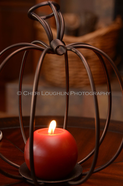 Wire Pumpkin Candle 5