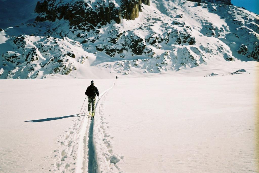 Day 1 004 Mark Skinning Across the Glacier