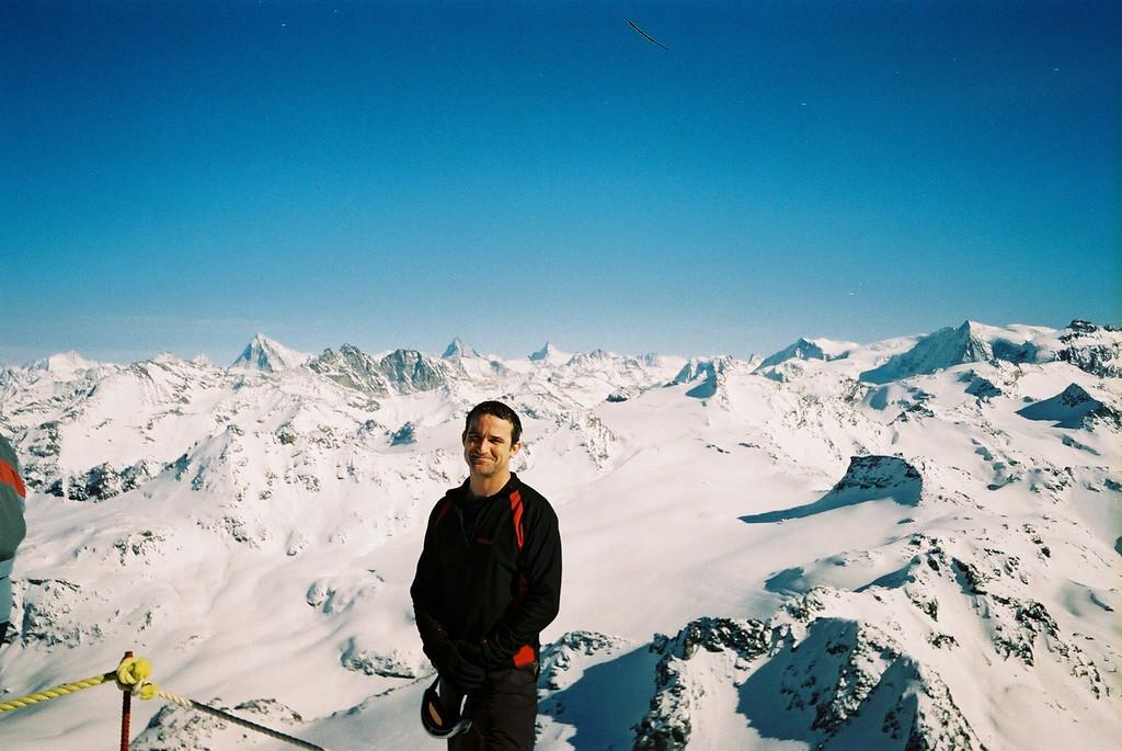 Day 2 011 Mike Top of Verbier Matterhorn Behind