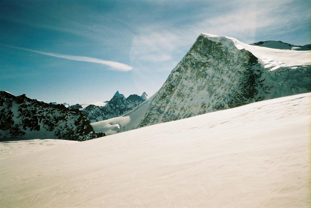 Day 4 001 Glimpse of Matterhorn from Glacier