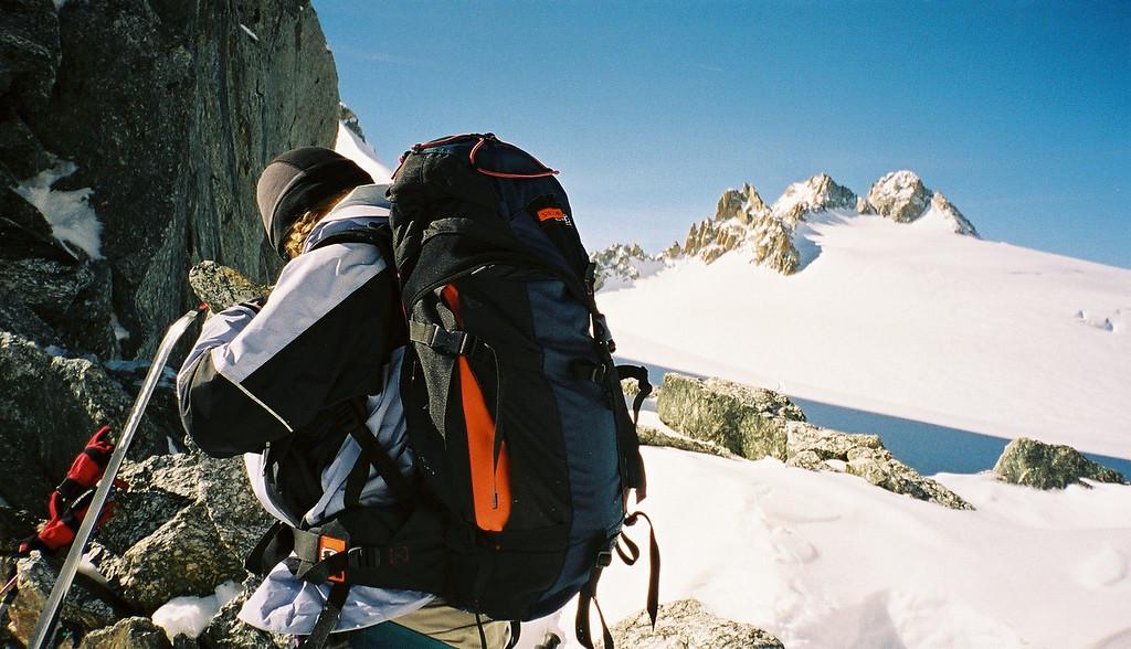 Day 1 011 Sarah on Top of Col du Chardonnay