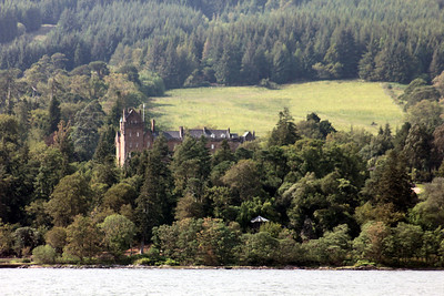 Brodick Castle from Brodick Bay. 5 July 2011