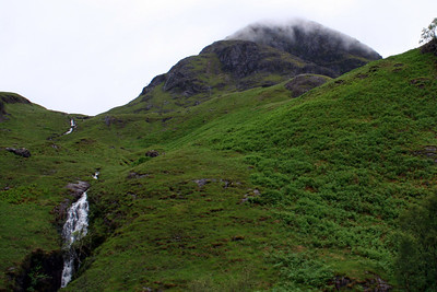 Waterfalls in the Pass of Glencoe 6 July 2011