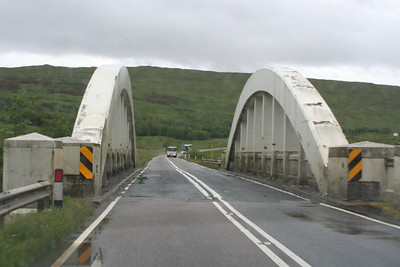A82 crossing the Water of Tulla prior to the climb up onto Rannoch Moor. 6 July 2011
