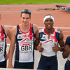 GB Men's 4x400m Team - Silver Medallists, European Athletics Championships 2012, Helsinki, Finland