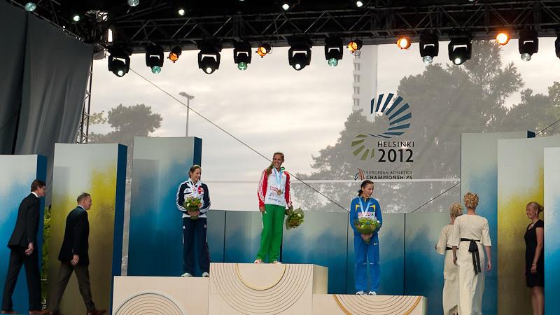 Jo Pavey - Silver Medallist Women's 10,000m, European Athletics Championships 2012, Helsinki, Finland