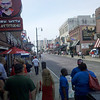 Beale St., downtown Memphis...great music, performers, BBQ!