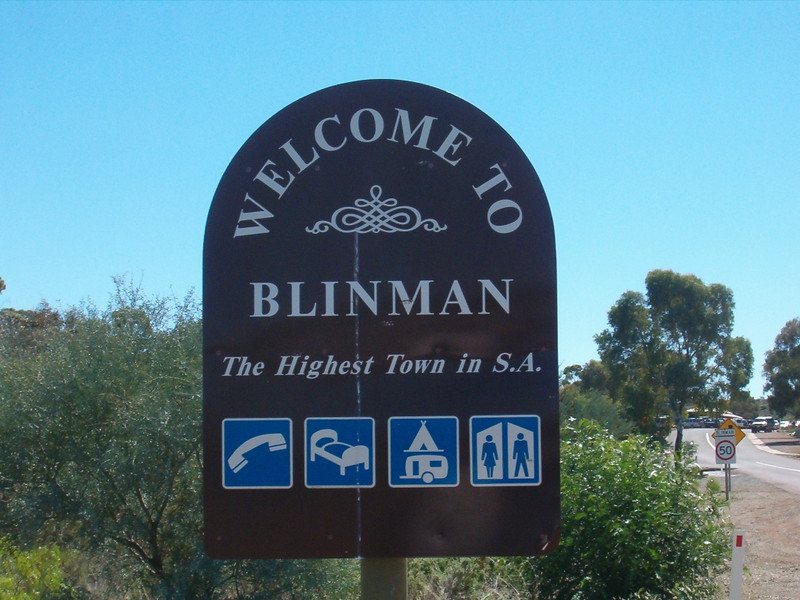 Blinman at 582m above sea level. This just goes to show flat South Australia is.