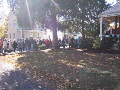 OK, there's a line of people paying to get into our house.  Freaky...but cool.