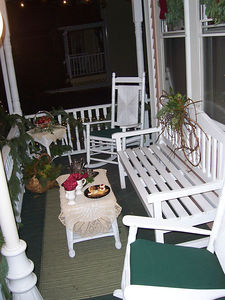 Our front porch, looking like a Cape May Bed N Breakfast.