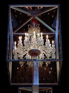 Baccarat chandelier, 20 were displayed, one was auctioned off and proceeds went to UNICEF.