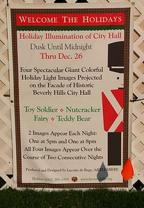 Holiday projections information...