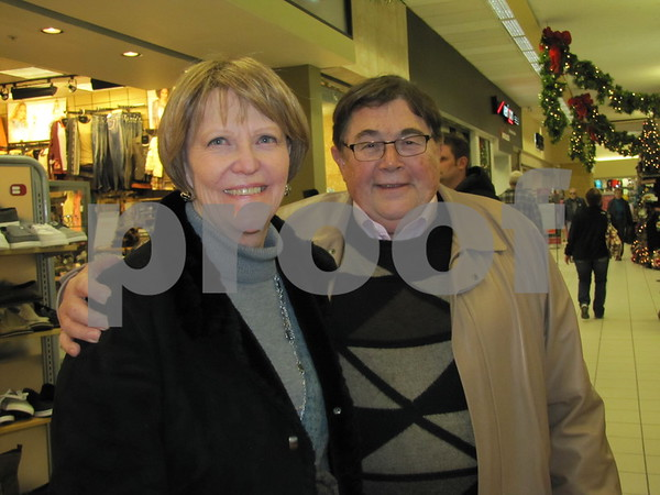 Joan and Greg Olson enjoying an afternoon of shopping.