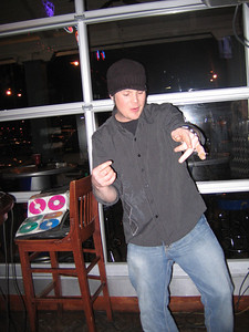 Celebrating the New Year at Lew's Bar and Grill - This was DJ Buff himself!