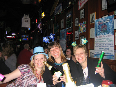 Celebrating the New Year at Lew's Bar and Grill