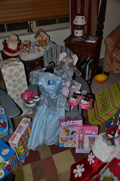 """""""All I want for Christmas is Hello Kitty Shoes, a Princess game, and a Cinderella dress""""  Guess she must have been nice!"""