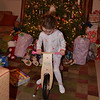 Trying out her new balance bike from Nana and Bumba.