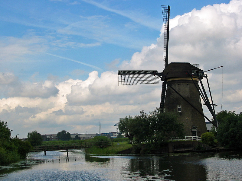 windmill, water and sky