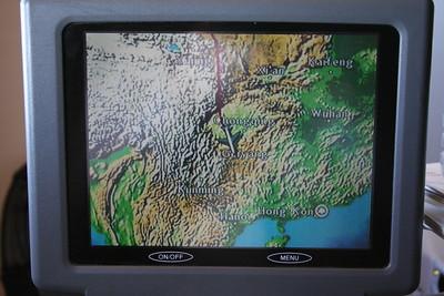 Flight tracking into Hong Kong