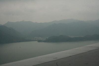 Lantau Island coming into land