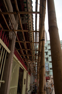 Bamboo scaffolding is every where in HK and Chin a
