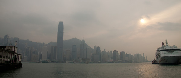 Smog over Hk island
