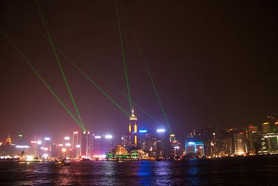 Night lights over at HK island
