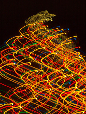 Hudson Ohio Abstract Holiday Lights