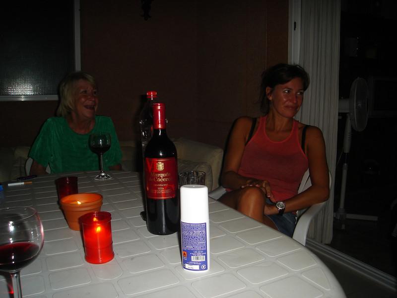 A NIGHTCAP ON THE BALCONY