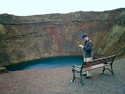 Kerið - volcanic crater (and Ian)