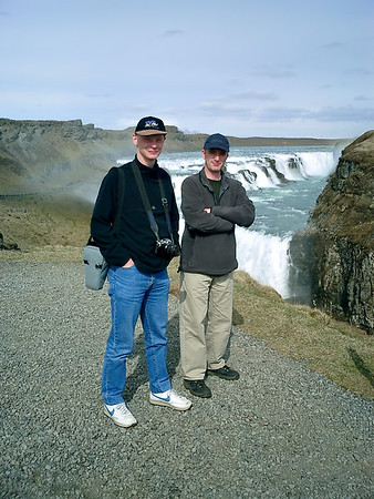 Ian and Oliver at Gullfoss