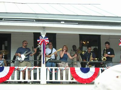 great tunes from the Warren Store 2nd floor porch