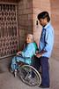 India 2014 - Jodphur - Merangarh Fort Tour - Mommie and Pawan at Elevator