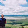 Me standing in front of the Ngorongoro crater