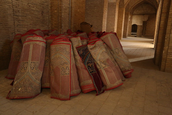 Carpets used in prayer halls.