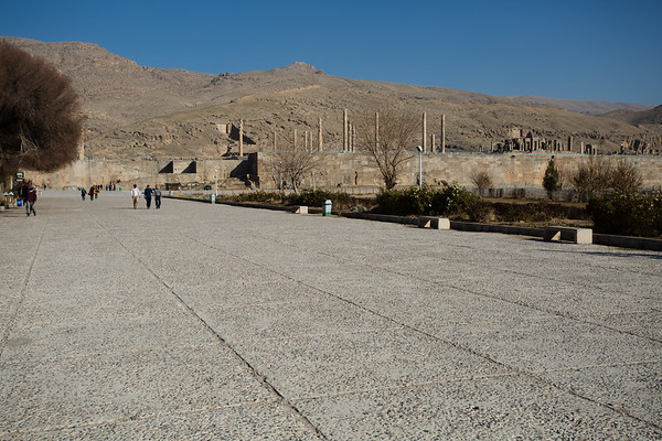 We had very little time to visit the ruins of Persepolis. The site is outside the city and we had to work with our hotel to get there. We are usually unlucky when someone else organizes things for us and this was no exception. We had about one hour here although we were promised 4.