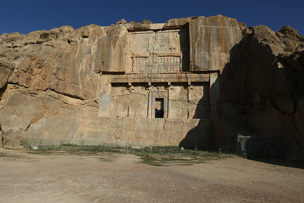On the hill above the city lies Tomb of Artaxerxes II. He was king of Persia between 404 BC until his death in 358 BC.