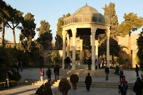 Tomb of Saadi dedicated to the famous poet. Saadi was born in Shiraz and became one of the major Persian poets known even in countries which don't speak Farsi.